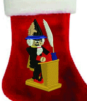 Teacher Plush Personalized Christmas Stocking Embroidered-Teacher nutcracker stocking christmas stockings personalize stockings Christmas Gifts