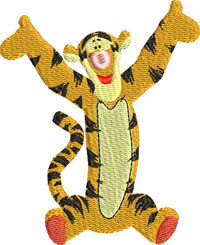 Tigger-Tigger, pooh, winnie, machine embroidery, embroidery designs