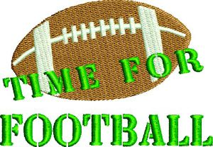 Time For Football Embroidery Design-football sports embroidery machine embroidery