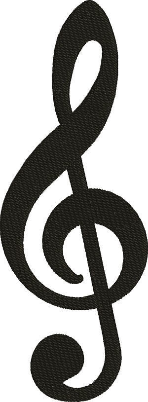 Music Treble Clef  Note-machine embroidery music treble clef music notes