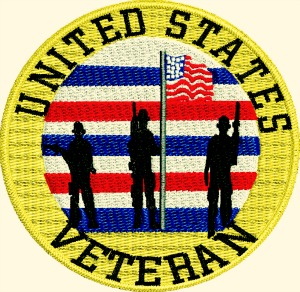 American Veteran Machine Embroidery Design-machine embroidery veteran logo patch embroidery