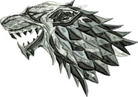 Wolf-wolf, game of thrones, machine embroidery, wolf icon
