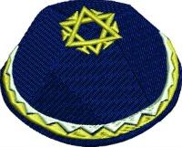 Yamaka-Yamaka kippah skullcap Jewish yamaka Jewish apparel apparel stithedinfaith.com machine embroidery