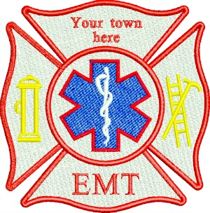 Maltese Firefighter Emt Personalized Embroidery Design
